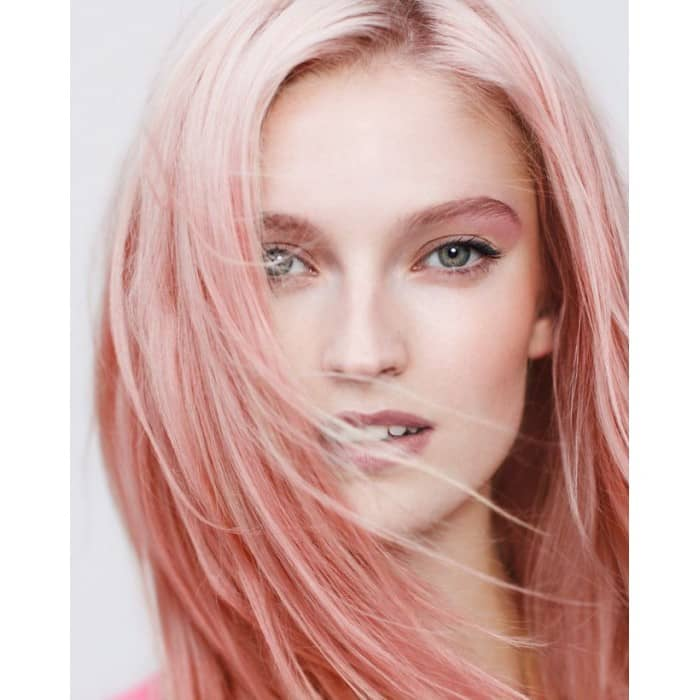 Long Sexy Layers With Pink Pastel Hair