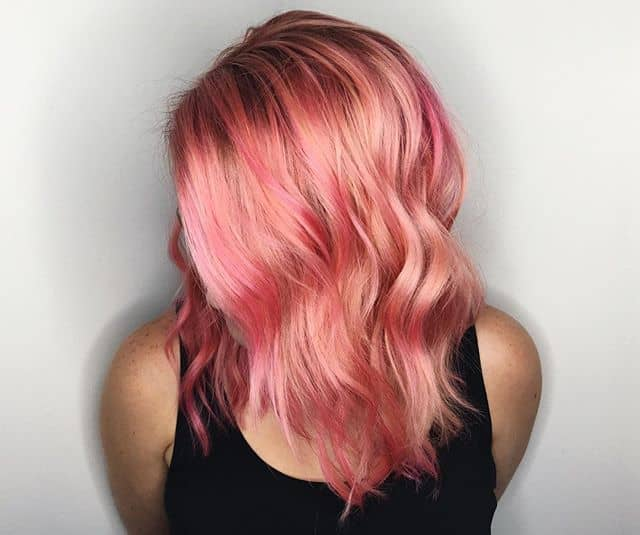 Watermelon Pink Unique Hair Color