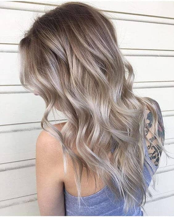 Ash Brown Blonde Long Waves