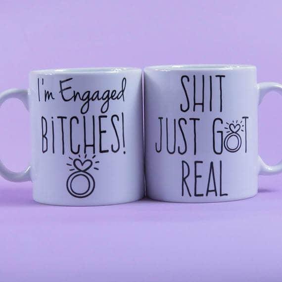 Couples Mug Set Engagement Gift