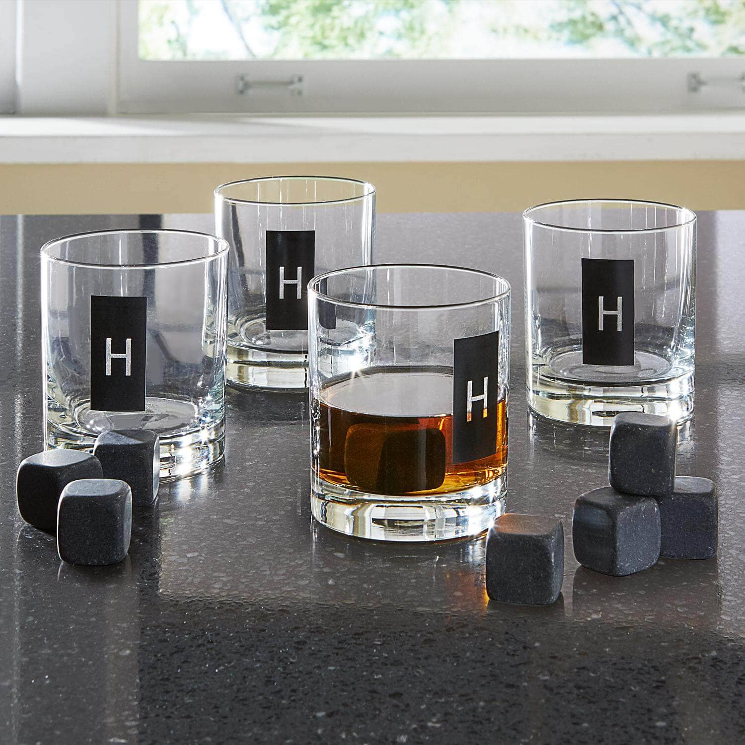 Double Old Fashioned Set and Whiskey Stones
