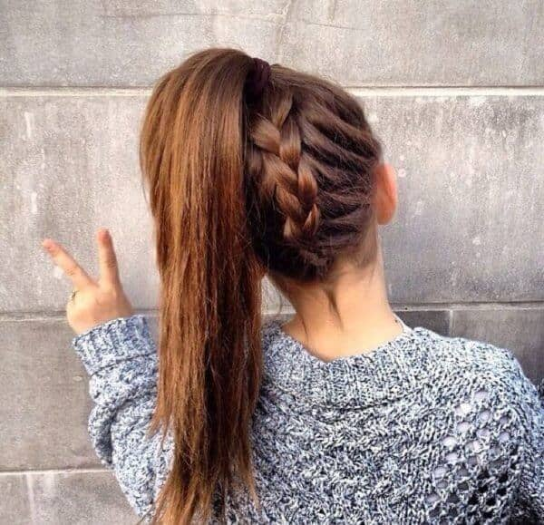 Cool and Easy French Braid Ponytail