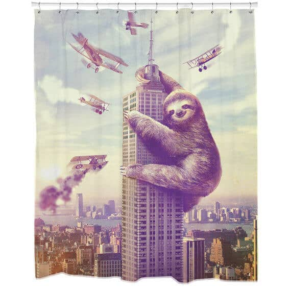 Movie Twist with Sloth Shower Curtain Gift Idea