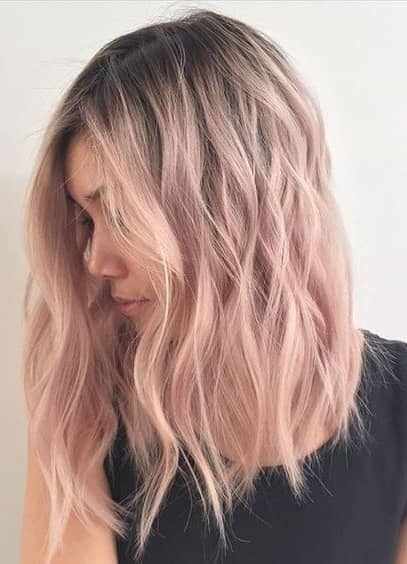 Subtle Rose Gold Highlights on Easy Medium Style