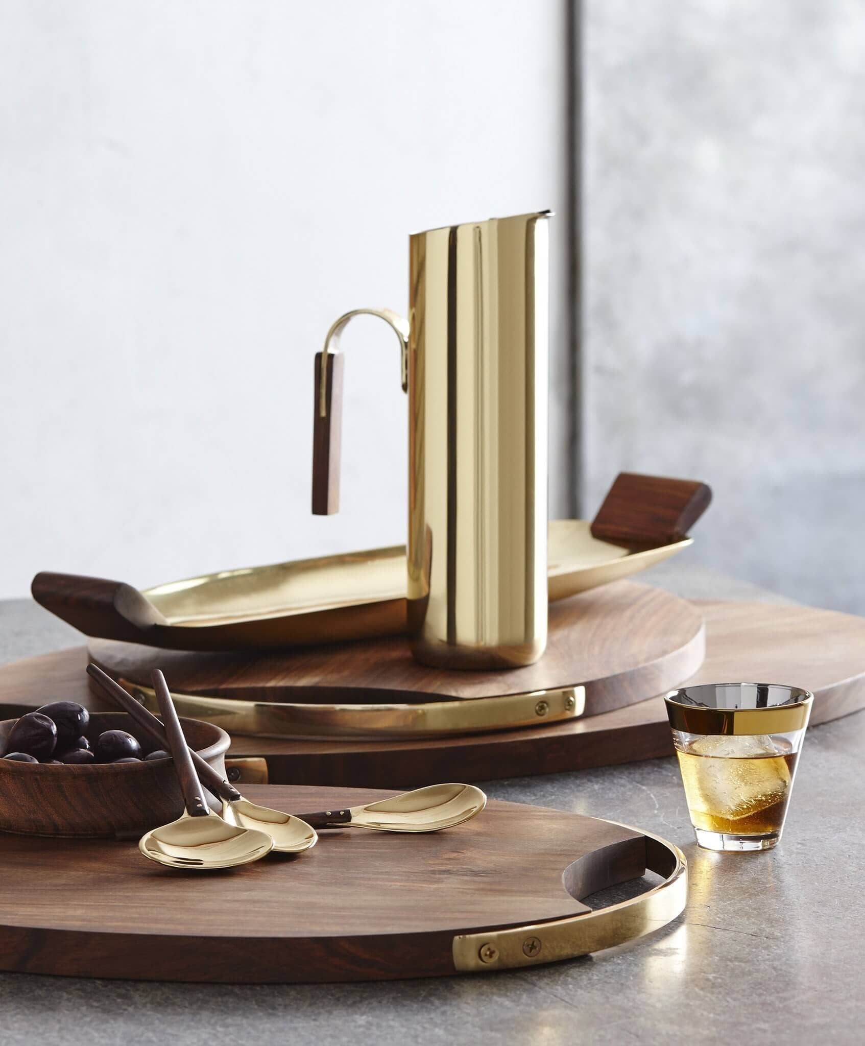 Brass Plated Stainless Steel Cocktail Pitcher