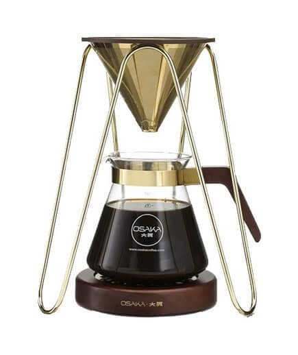 Gold Tripod Pour-Over Coffee Station