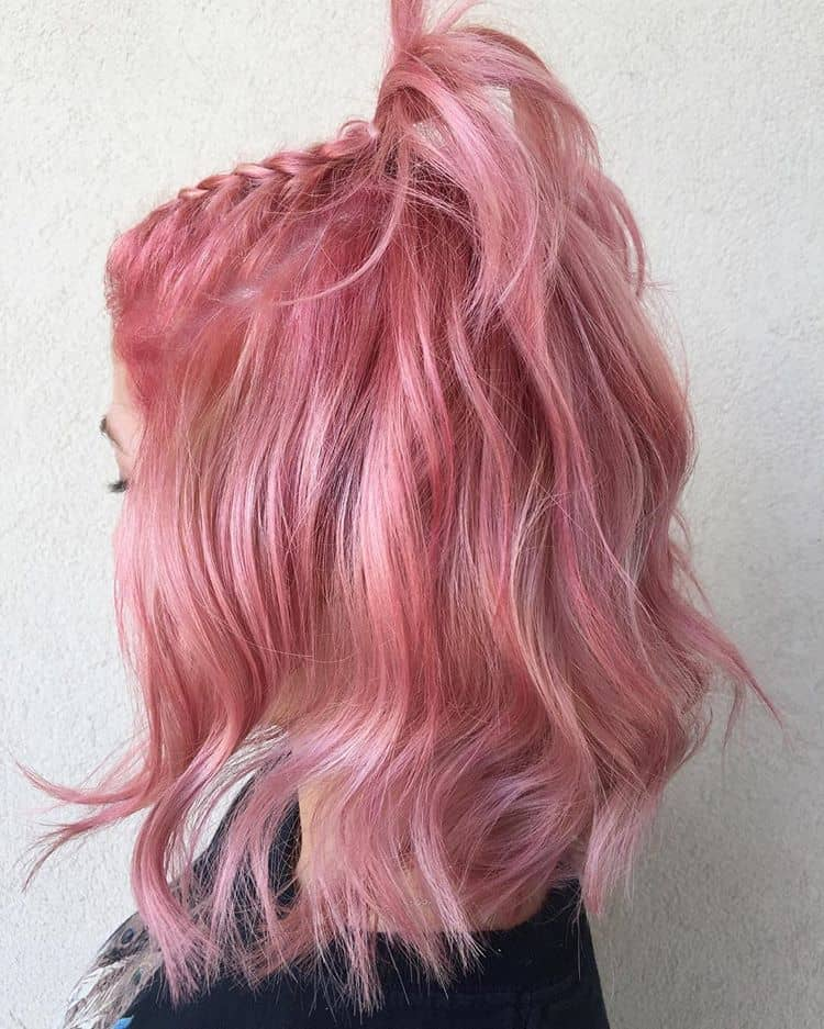 Cool Trendy Creamy Pink Tresses