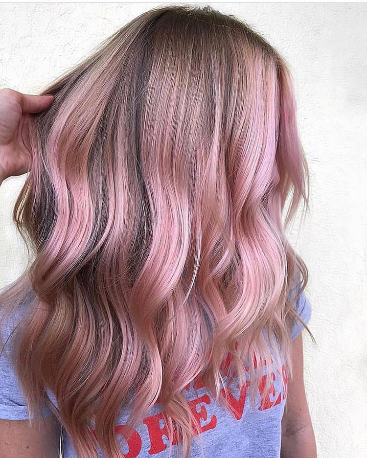 Dirty Blond Hair With Pink Highlights