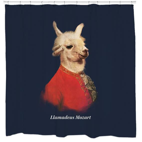 Historical Hilarious Twist with Llama Shower Curtain
