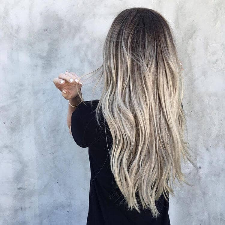 Long Layered Soft Ash Ombre
