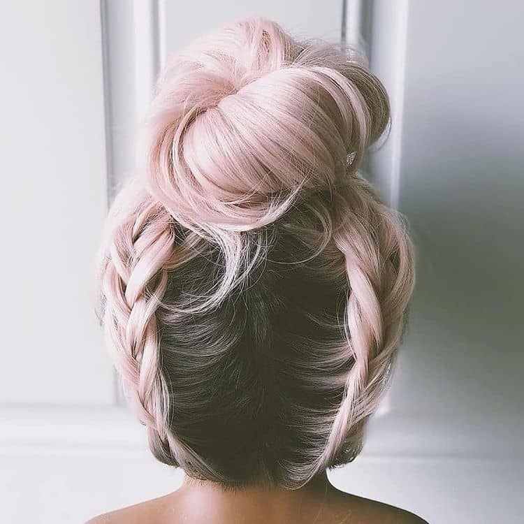 Charming and Soft Baby Pink Platinum Hair Color
