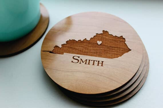 Personalized State Coaster Set of 4