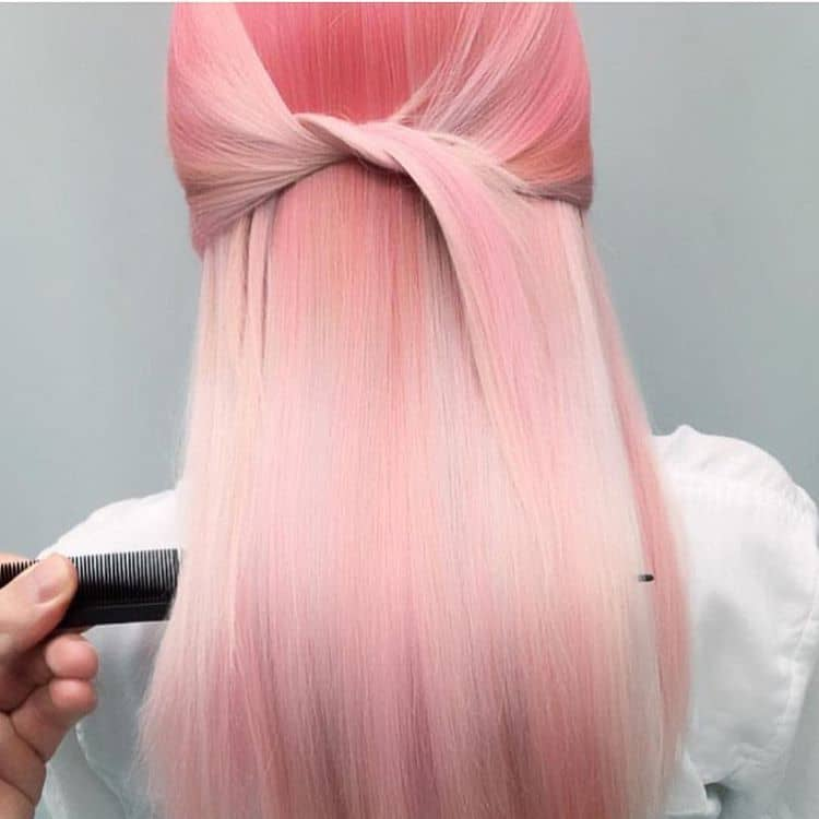 Multi-Dimensional Pastel Pink Hair