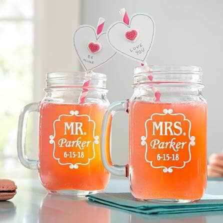 Personalized Mason Drinking Jars