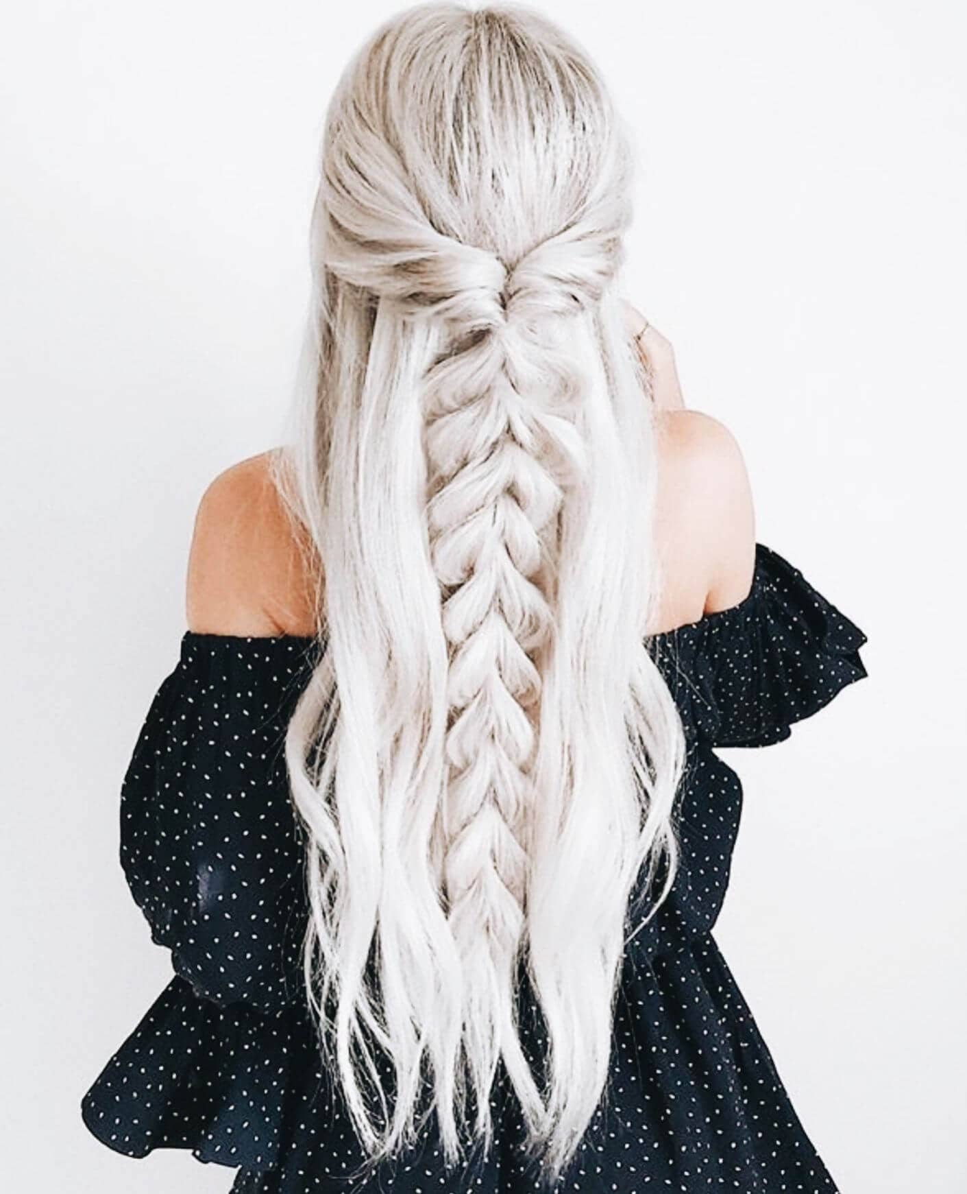 Long Platinum Braided Waves