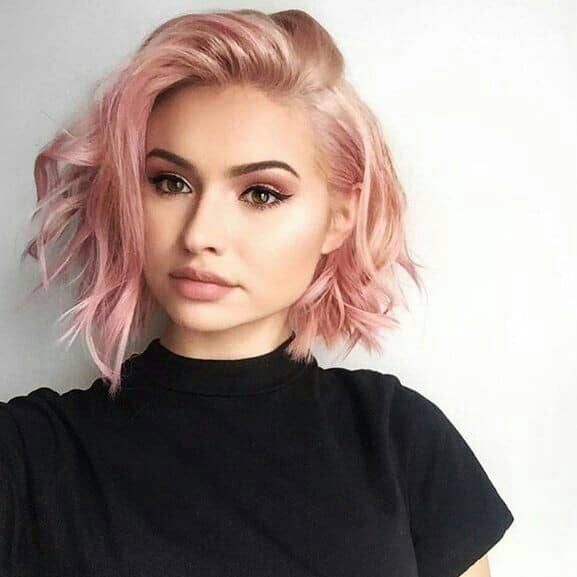 Cute Easy Hairstyles for a Pink Blonde Bob