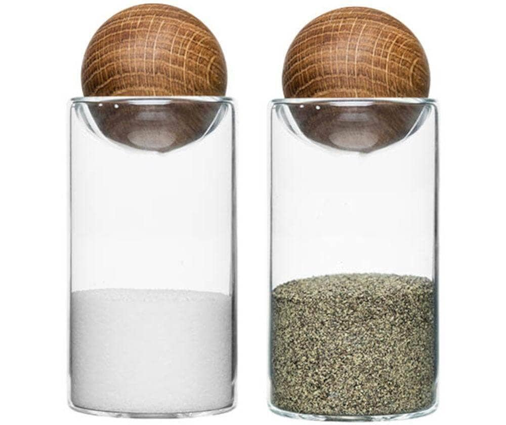 Oval Oak Salt and Pepper Set