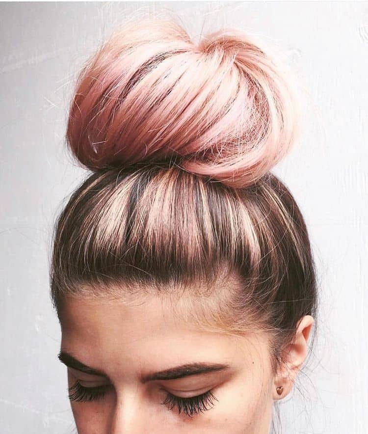 Nice and Neat Pink Bubblegum Pink Bun