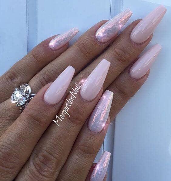Unicorn Magic Pink Glitter Nails