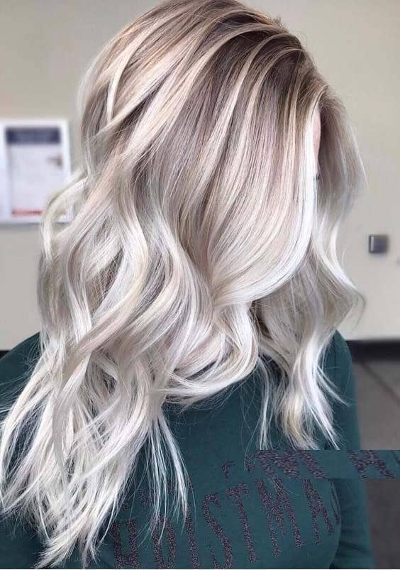 Platinum Blonde Ashy Highlights