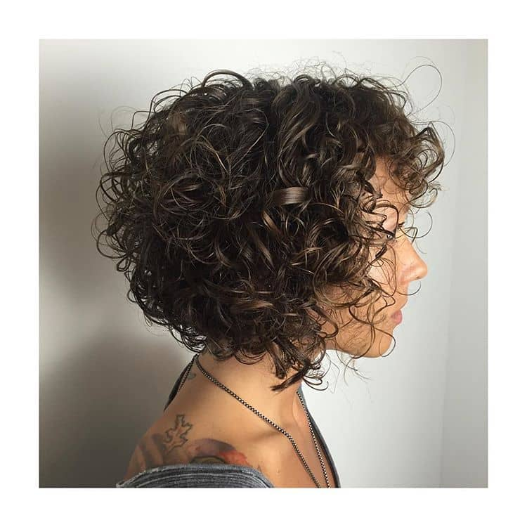 Short Curly Hair With Bangs And Layers 98