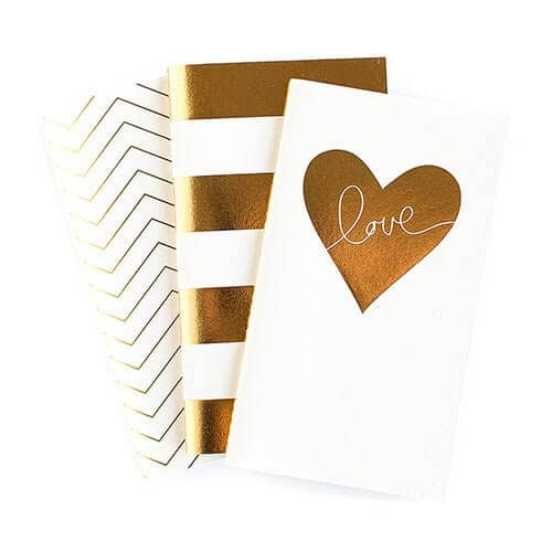 Mini Gold Foil Journal Books