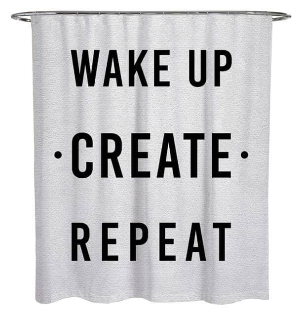 Creative Slogan Shower Curtain for Creative People