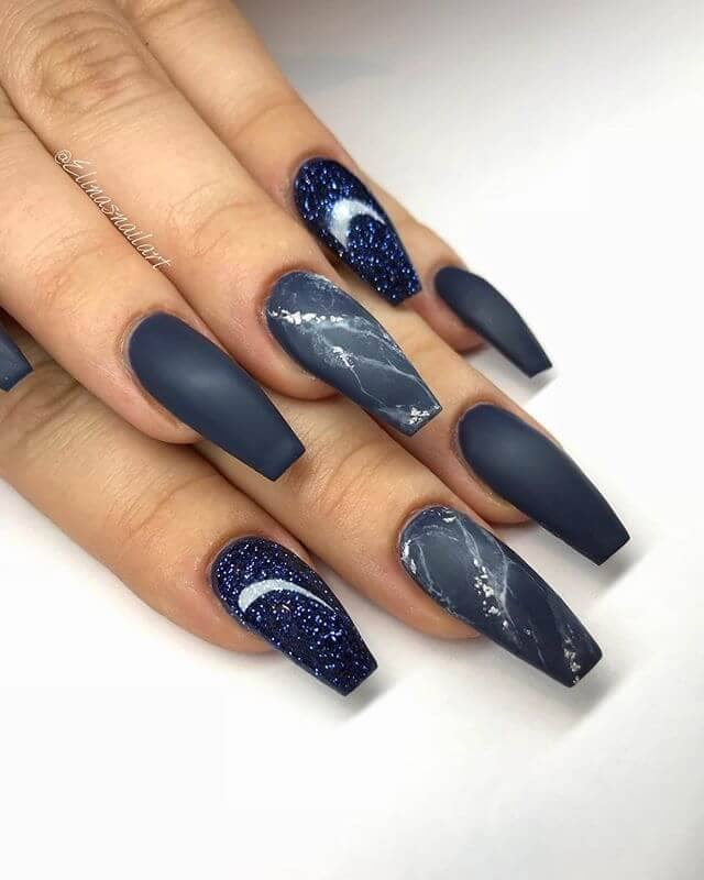2001 A Space Odyssey Navy Nails