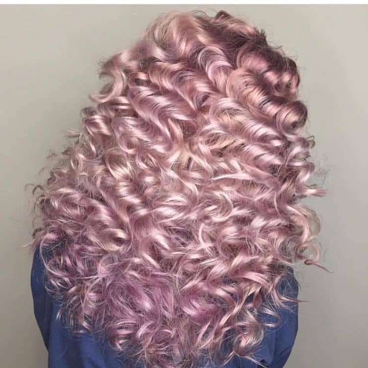 Shimmery Violet Pink Ringlet Curls
