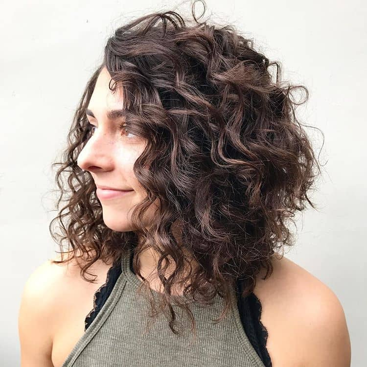 Loose Curls In A Long Bob