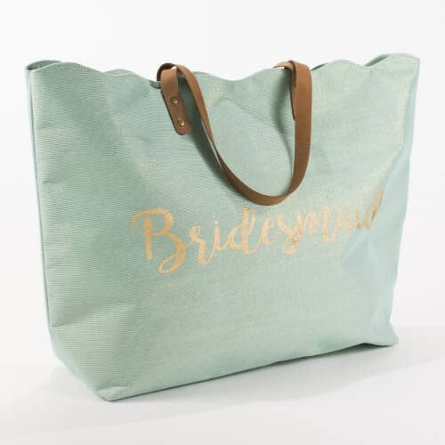 Shimmery Shiny Bridal Party Tote Bag