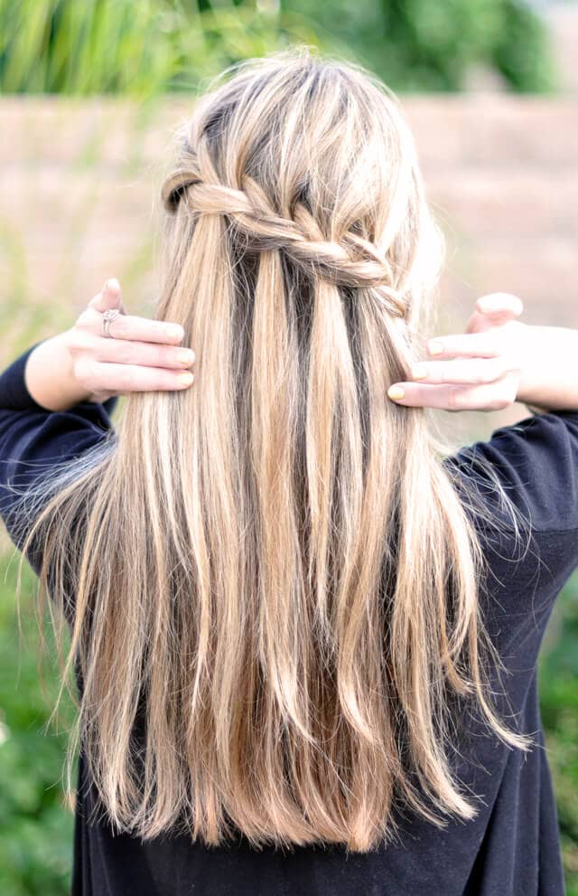 Diagonally Charming Style with a Braid