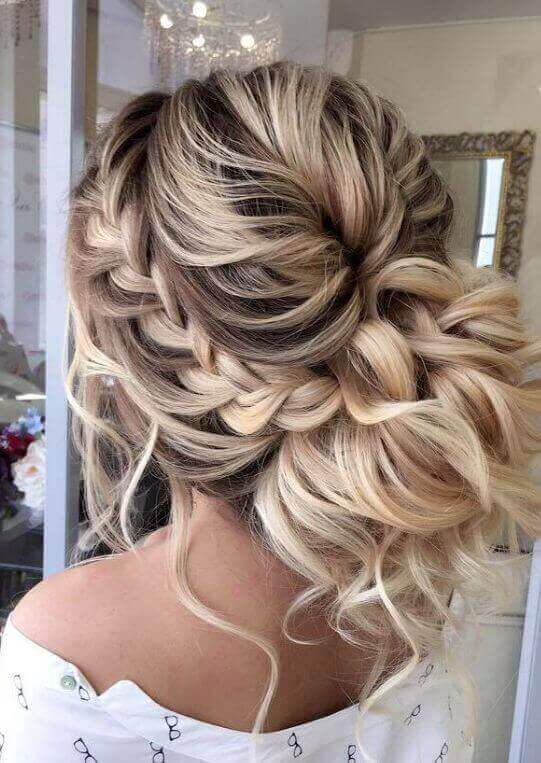 Upswept Braid and Bun Combo