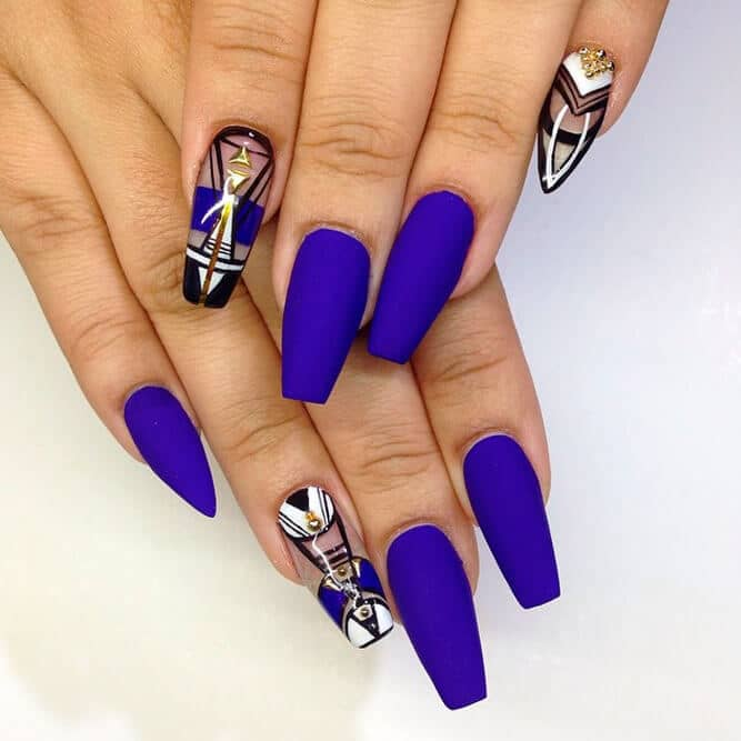 50 Awesome Coffin Nails Designs Youll Flip For In 2019