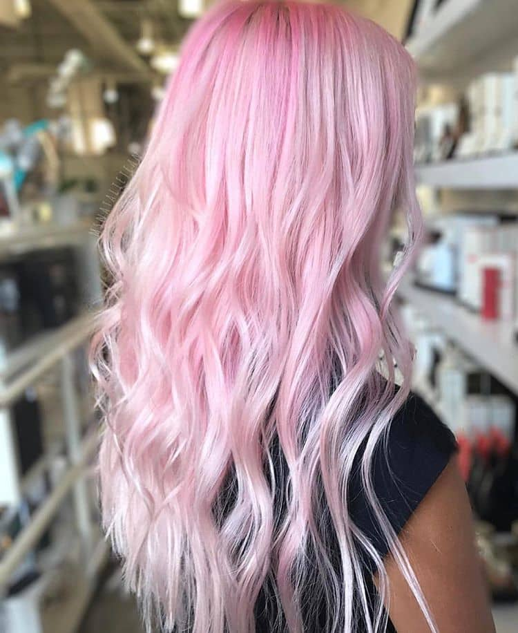 White Blonde With Neon Pink