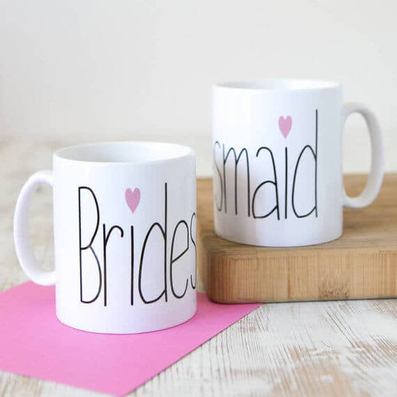 Unique Feminine Sweetheart Bridesmaid Mug