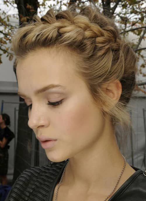 Traditionally Braided Updo with Style