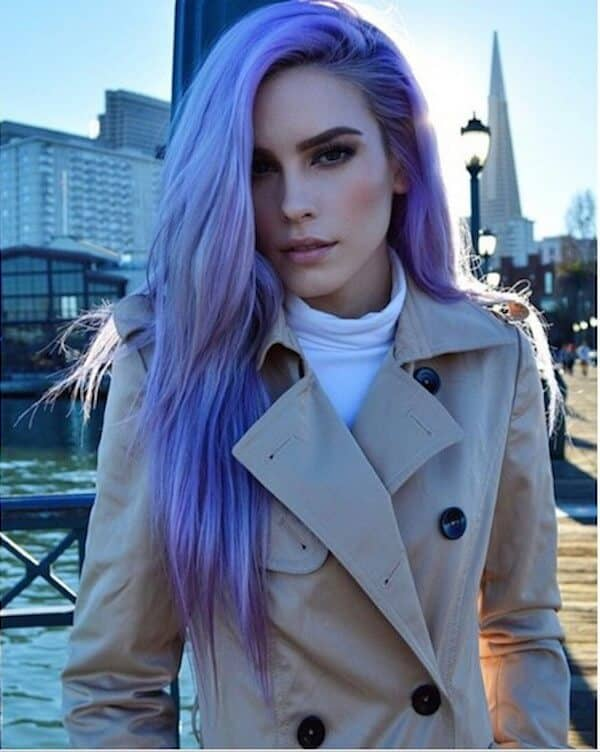 Purple Blue Color Shade Style