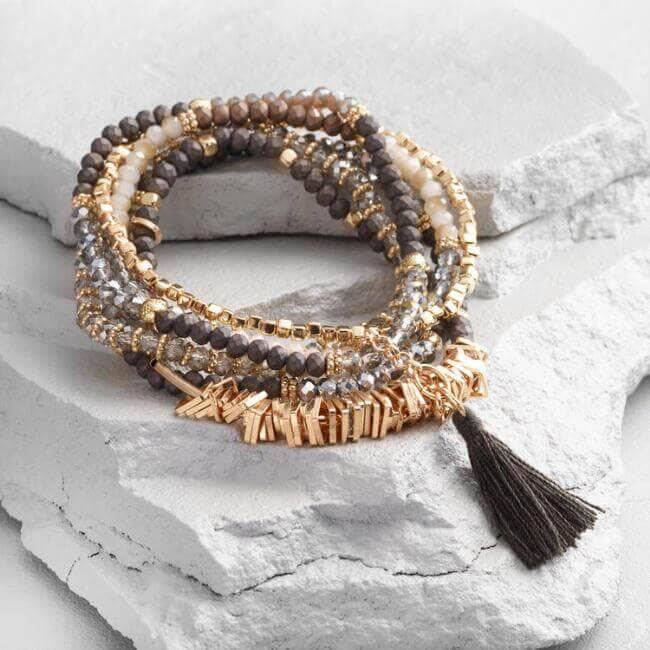 Beautiful Beaded Bracelet with a Tassel