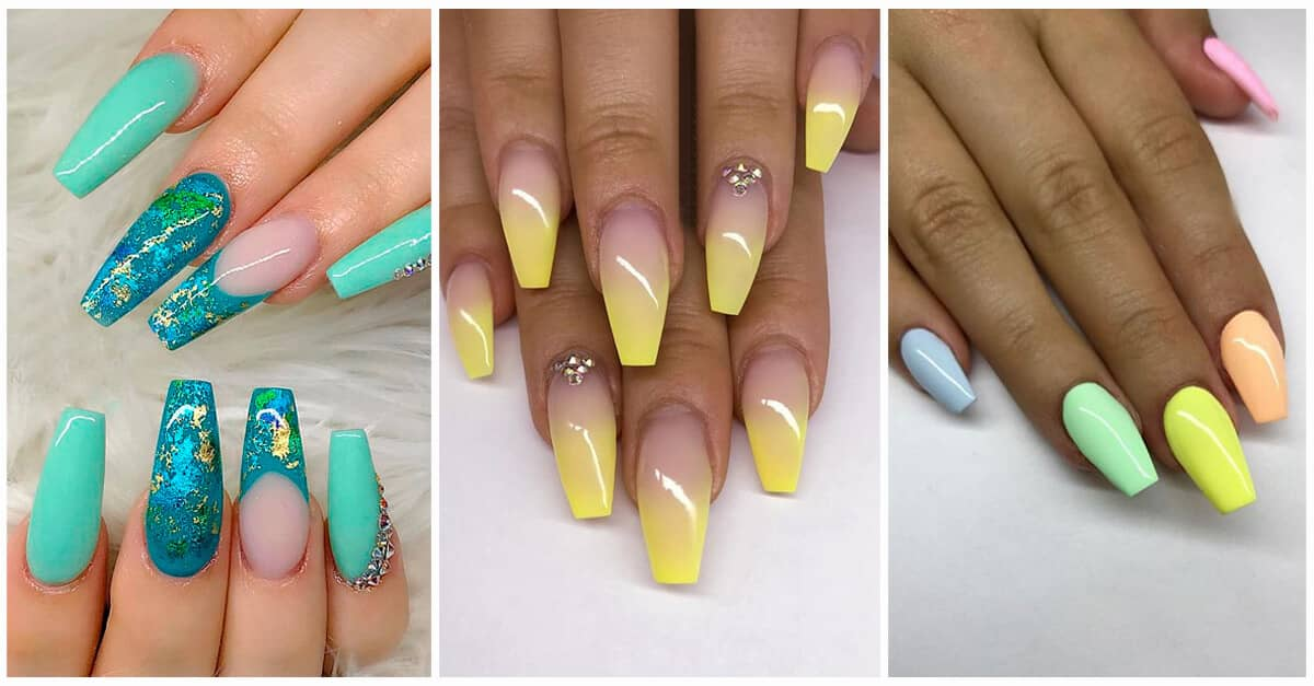 50 Awesome Coffin Nail Designs You\'ll Flip For
