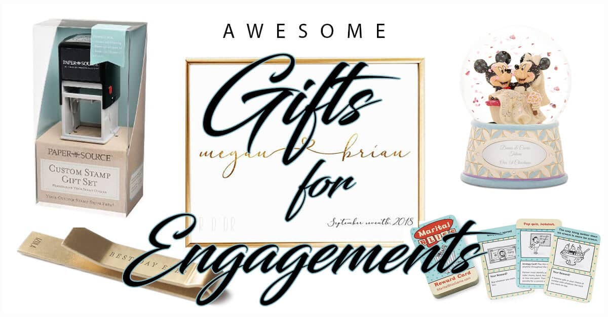 50 Awesomely Creative Engagement Gifts For The 2018 Wedding Season