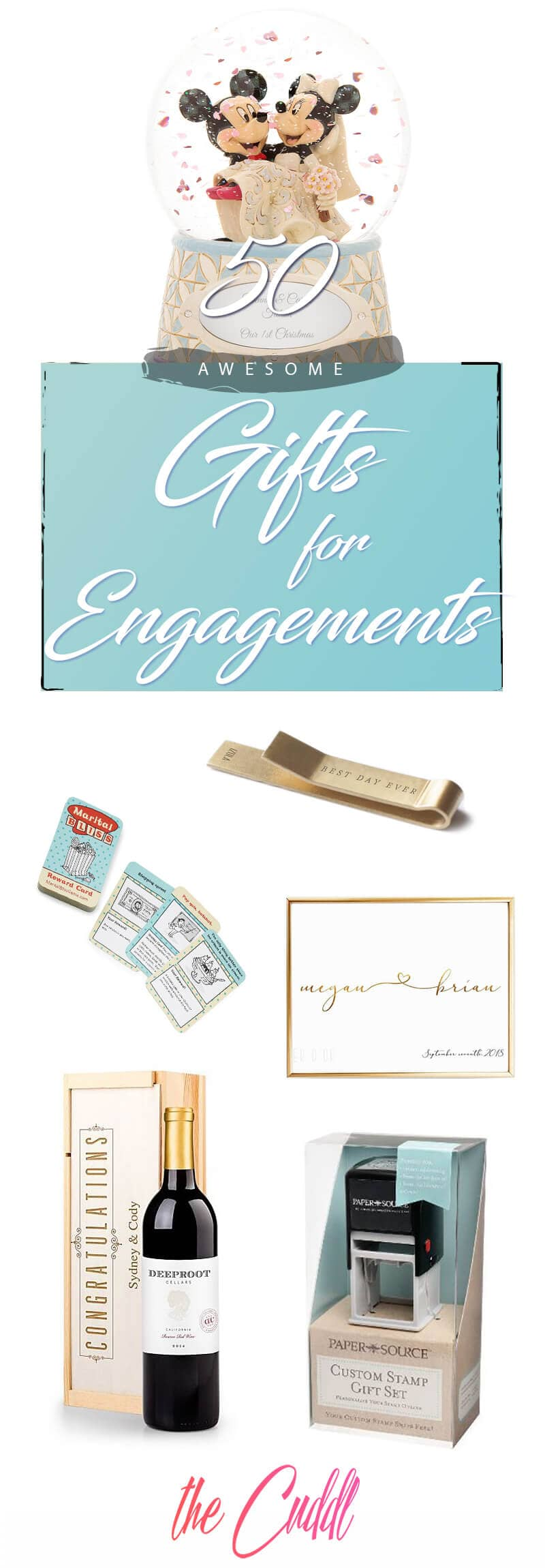 50 Awesomely Creative Engagement Party Gifts For The Wedding Season