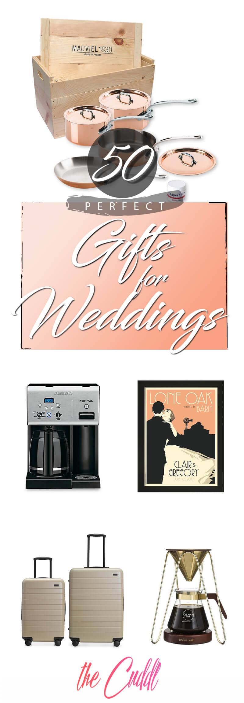 50 Super Fun Wedding Gifts that a Couple Would Be Lucky to Have