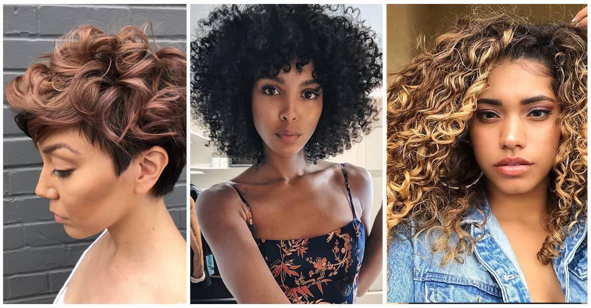 50 Brilliant Haircuts For Curly Hairstyle 2019 Art Design