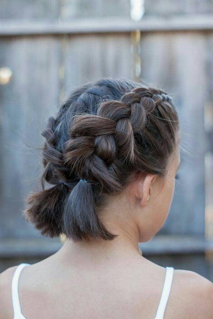 Cute Double Dutch Style for Shorter Hair