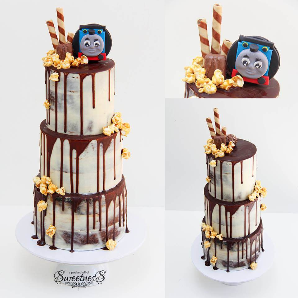 Thomas The Tank Engine Chocolate Drip Confection