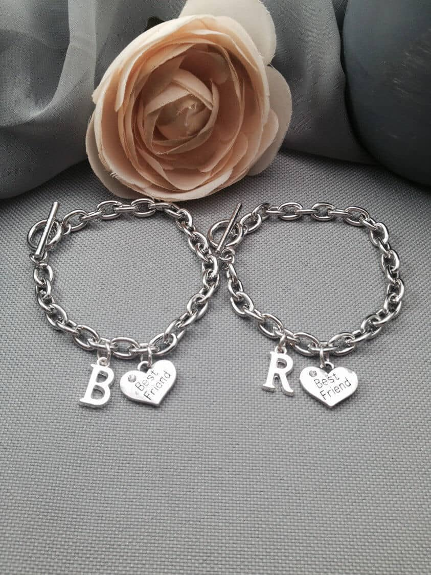 Sweet Initial Friendship Charm Bracelet