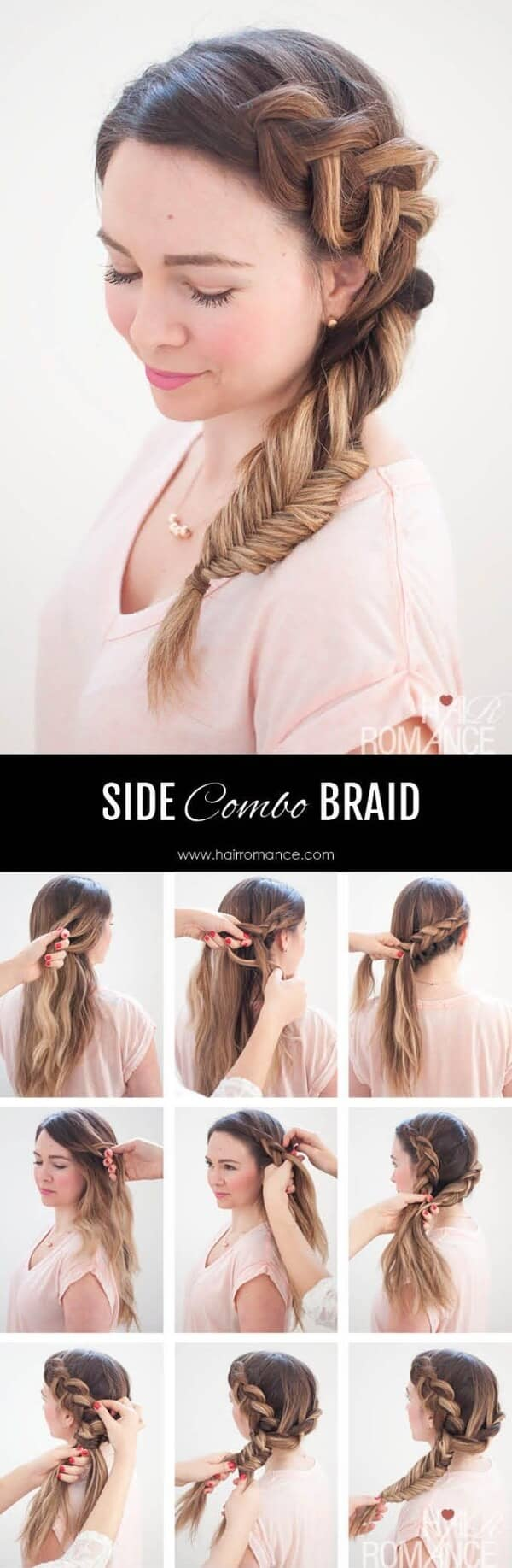 Side Dutch Braid in Kombination mit Fischschwanz