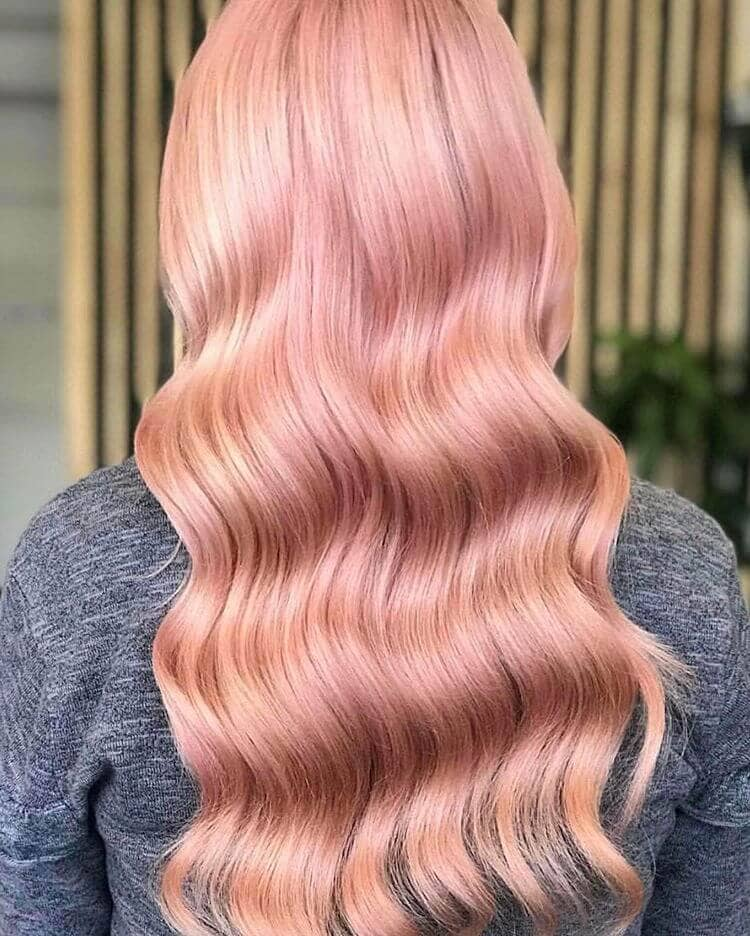 Yummy, Shiny Strawberry Blonde Rose Pink Hair