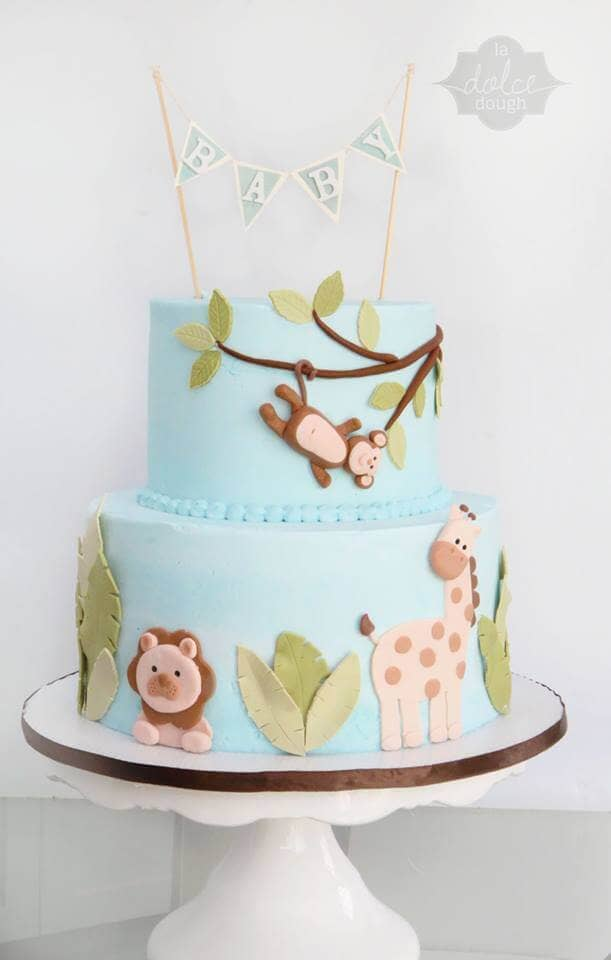 Joyful Jungle Gender Neutral Cake Idea